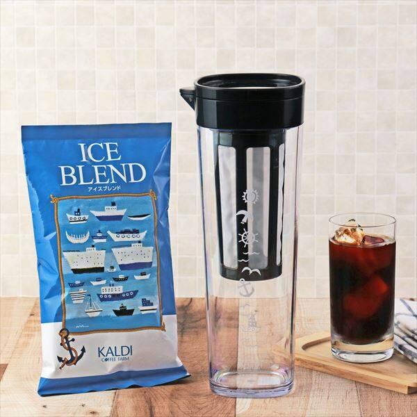 KALDIの「アイスブレンド+水出しドリンクボトルセット」でアイスコーヒー