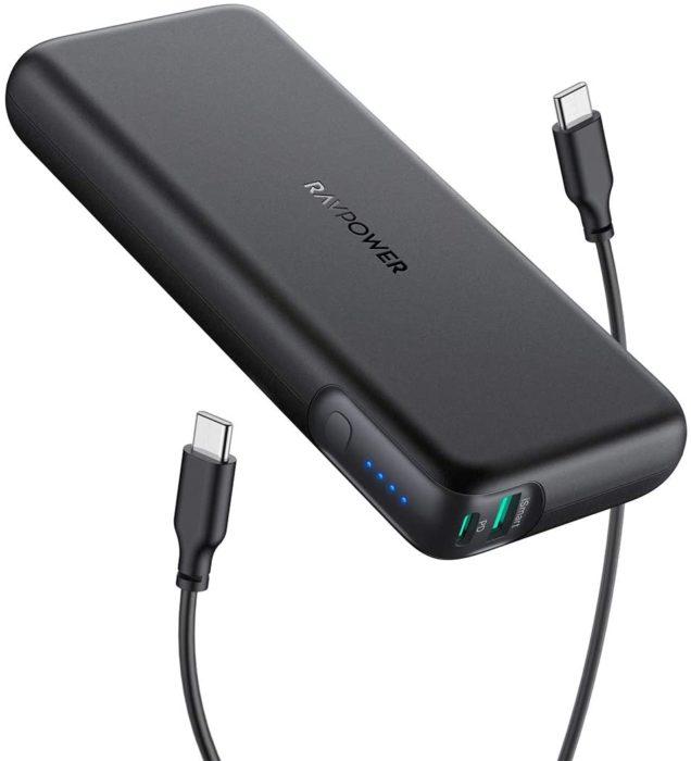 MacBookProに充電できるRAVPower コンパクトモバイルバッテリー 20000mAhをAmazonで購入