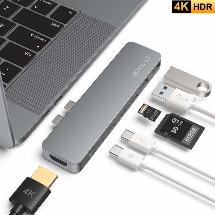 MacBook Pro 用の「7ポート付きのUSBハブ」を購入。