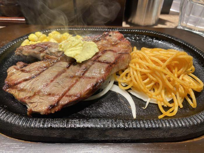 SUINA室町「アメリカンステーキダイナー STEAK & STEAK ステーキ ステーキ」のチャックステーキランチ
