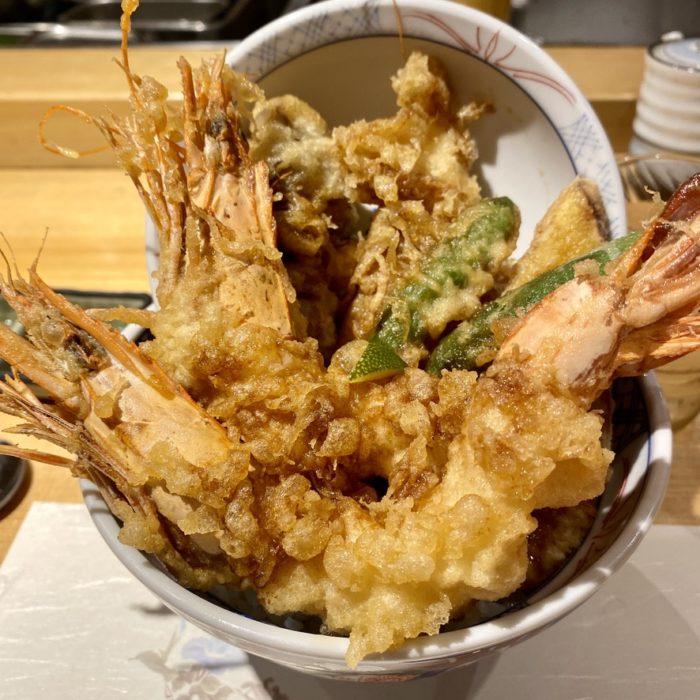 天丼まきので「大海老まきの天丼」を食べてみた
